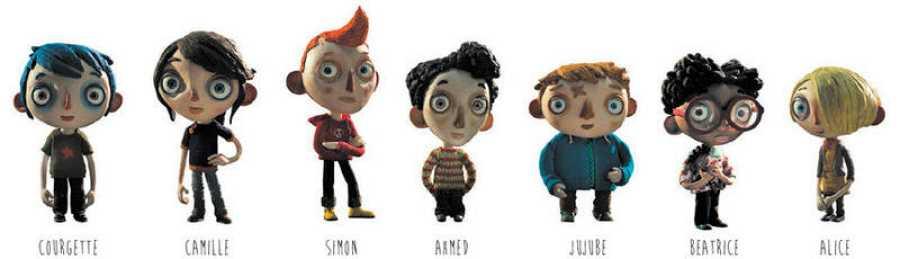 Los niños protagonistas de 'La vida de Calabacín'