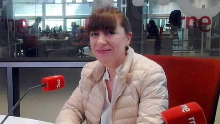 Mónica Fernández, en un momento de la entrevista.