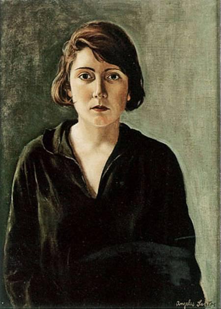 Autorretrato de la pintora Ángeles Santos