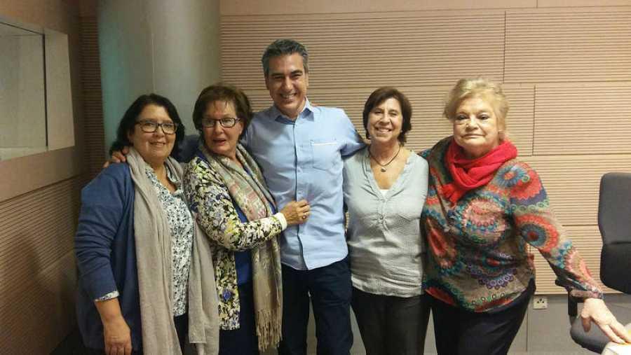 Luz Montero, con Barriuso, Chao y De Andrés