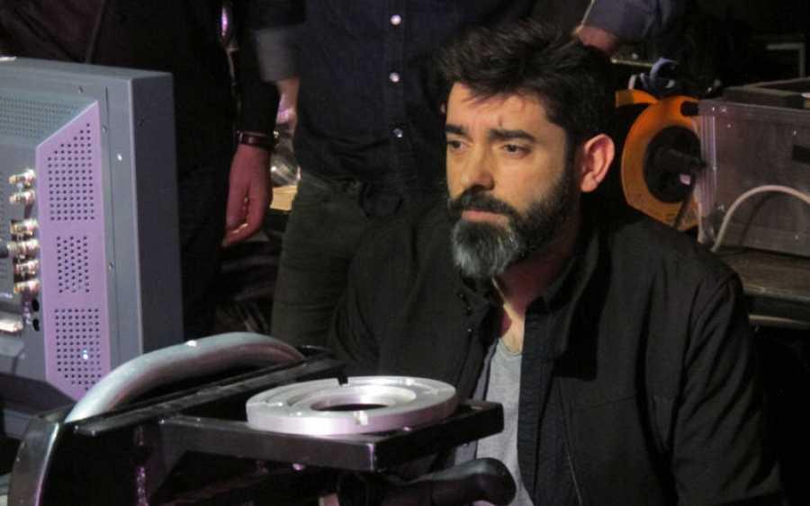 Carlos Fernández Vigo en un momento del rodaje de 'Memorias de un hombre en pijama'