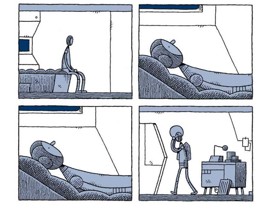 Viñetas de 'Un policía en la luna'