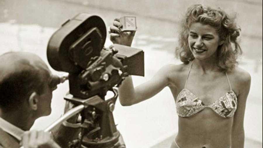Primera modelo que mostró el bikini al público