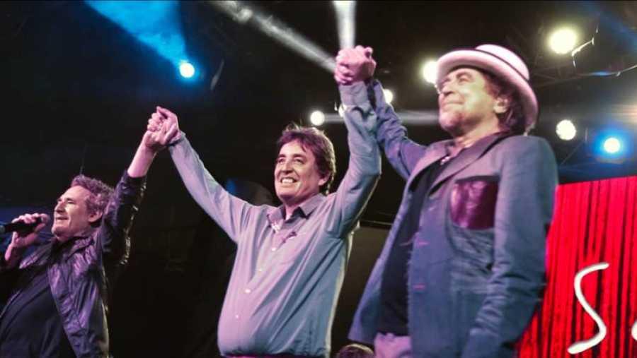 En la imagen, Miguel Ríos, Luis García Montero y Joaquín Sabina