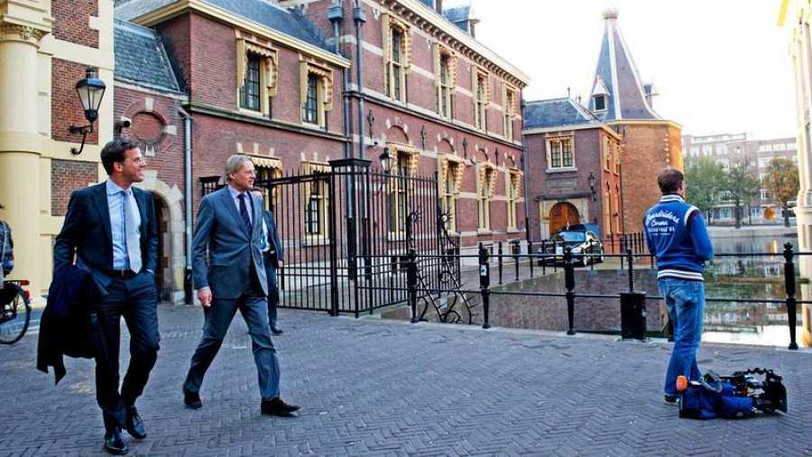 Mark Rutte en La Haya (Holanda) tras ser elegido primer ministro por primera vez