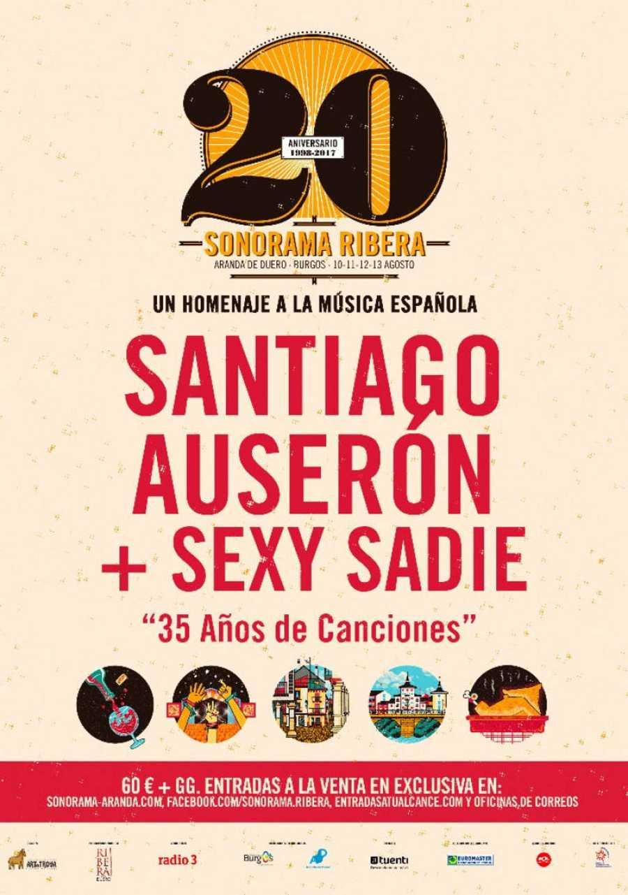 Santiago Auserón + Sexy Sadie, cabeza de cartel doble del Sonorama