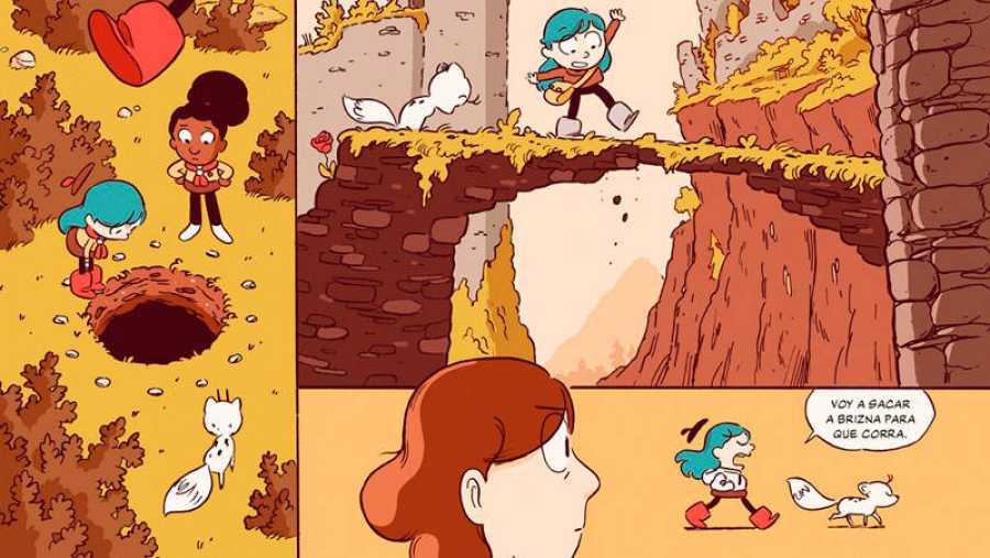 Viñetas de 'Hilda y el bosque de piedra'