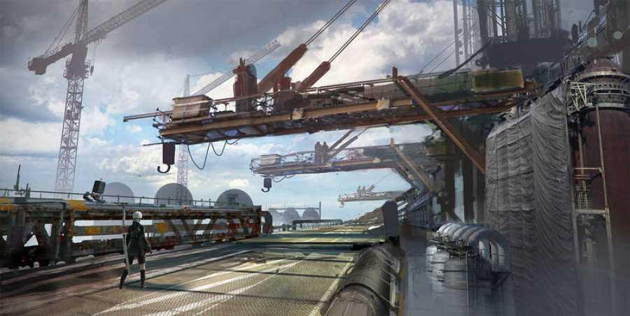 La fábrica es uno de los espacios creados por PlatinumGames para 'NieR:Autómata'.