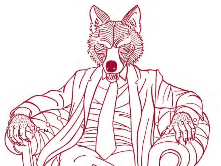 Luis Alberto de Cuenca convertido en hombre lobo