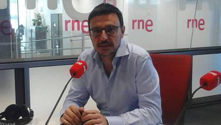 Jorge Alcalde, en un momento de la entrevista.