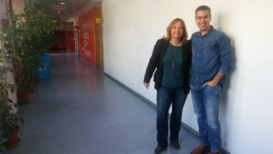 Patricia Kraus, con Arturo Martín