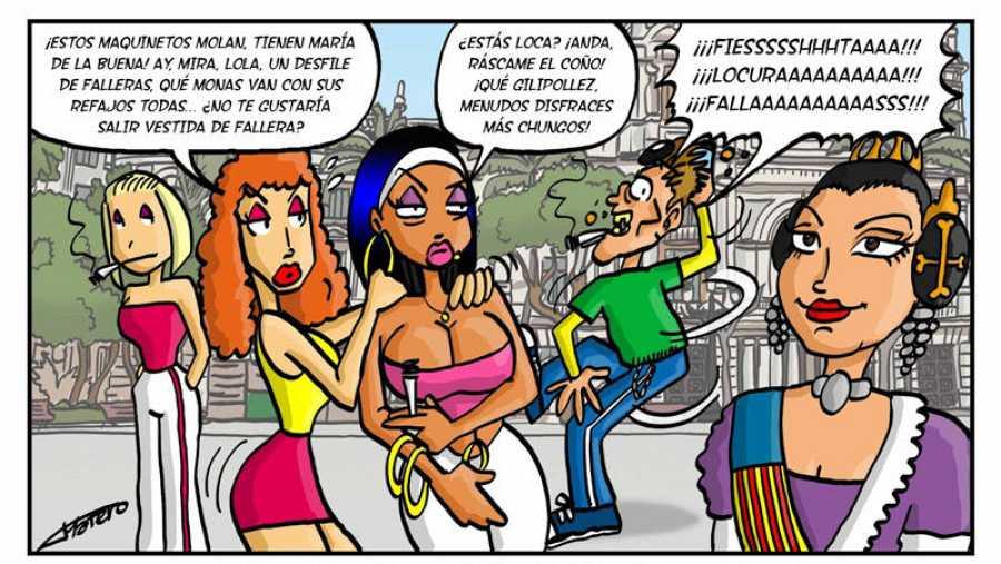 Viñeta de 'Lola la poligonera'