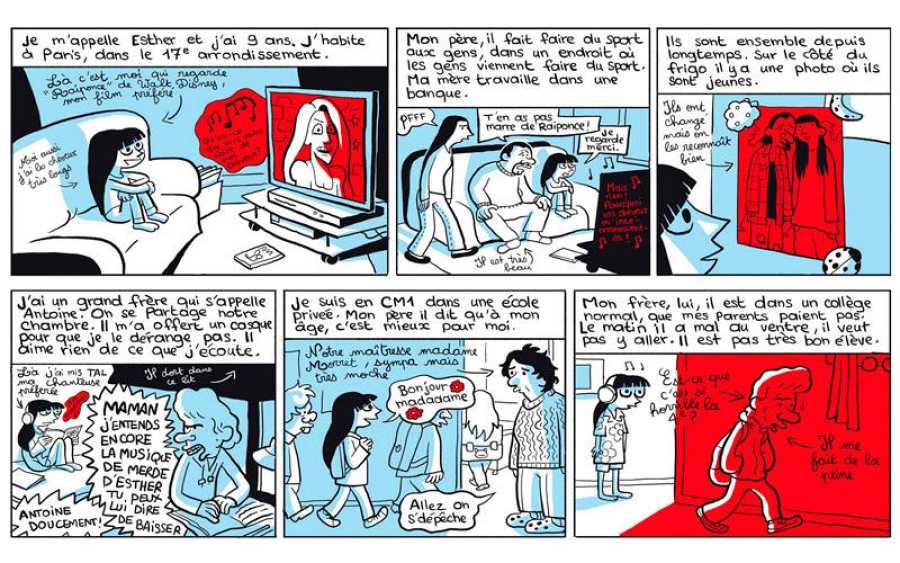 Viñetas de 'Los cuadernos de Esther'