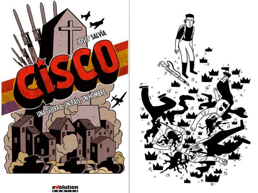 Portada y página de 'Cisco. Una guerra, un país, un hombre'