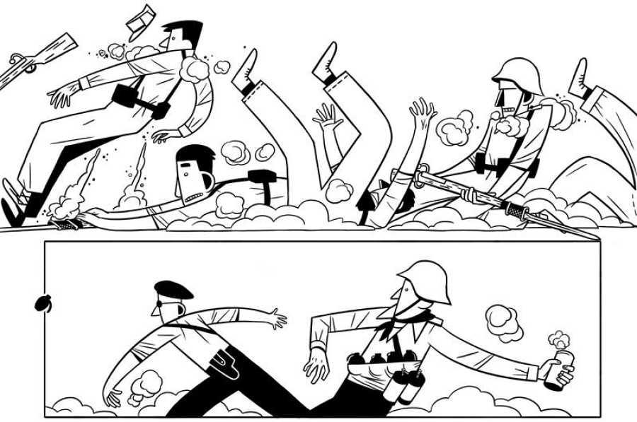 Viñetas de 'Cisco. Una guerra, un país, un hombre'