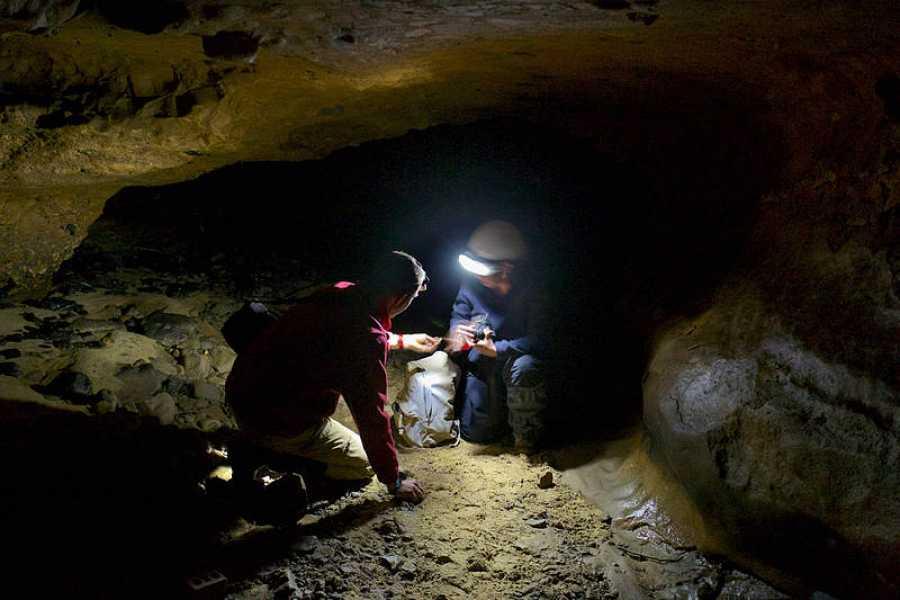 Trabajos en la cueva asturiana de El Sidrón