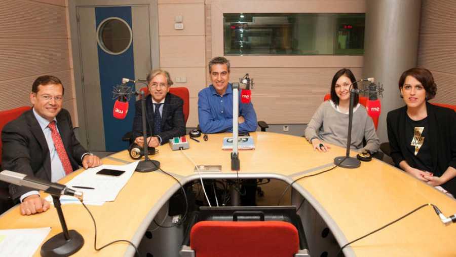 Alberto San Juan, Isidoro Bruna, Anabel Manchón y Laura Baena