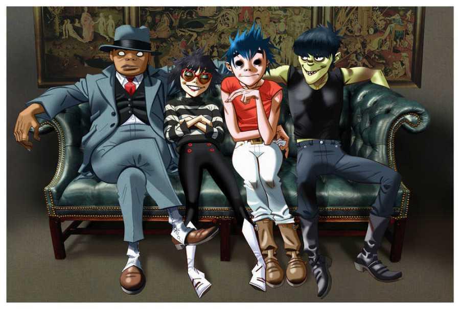 Gorillaz lo forman los personajes 2-D, Noodle, Murdoc y Russel