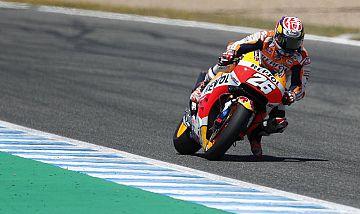 El piloto español de MotoGP Dani Pedrosa durante el Gran Premio de España.