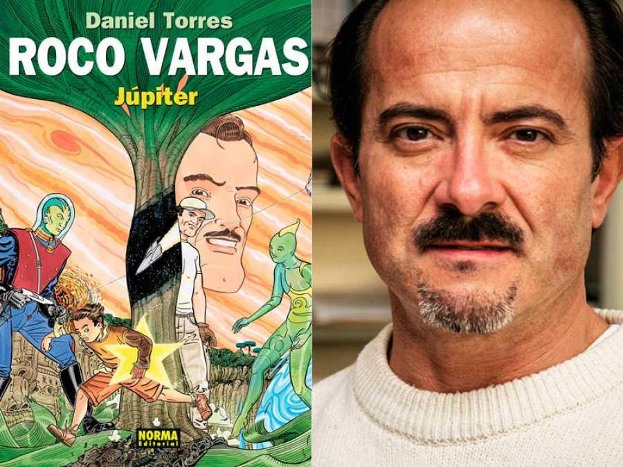 Portada de 'Júpiter' y su autor, Daniel Torres