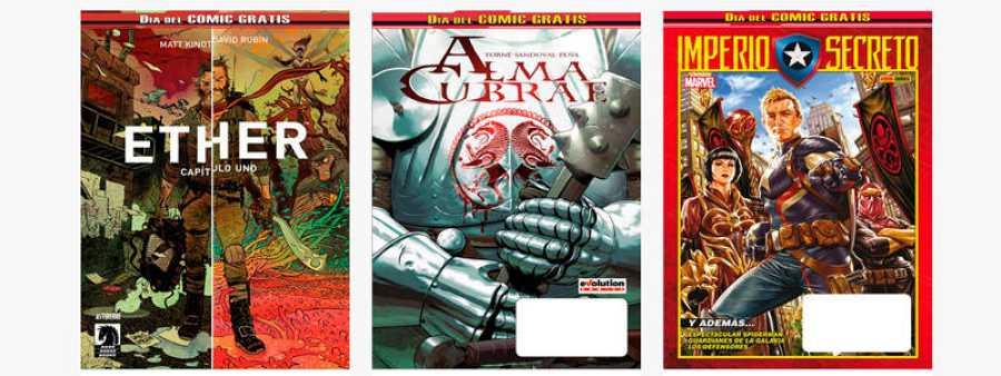 Algunos de los cómics que se regalarán el Día del Cómic Gratis