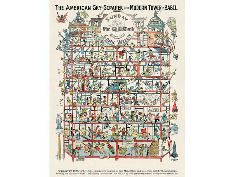Dan McCarthy, The American sky-scraper is a modern tower of Babel (1898)