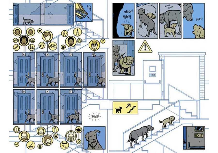 Páginas de 'Ojo de Halcón' dibujadas por el español David Aja