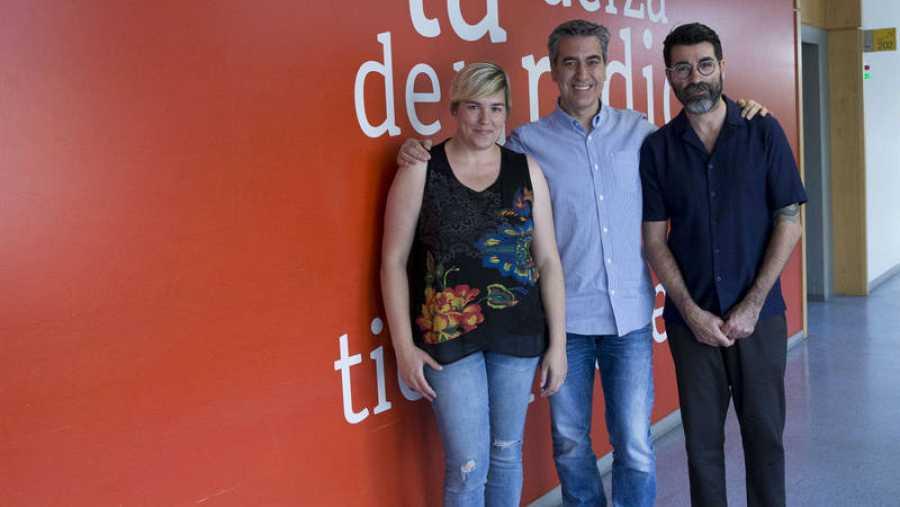 Cristina Rosa Cavero y Rafael Muñoz visitan a Arturo Martín