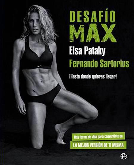 Elsa Pataky, en la portada de 'Desafío Max', el libro que ha coescritor junto a Fernando Sartorius