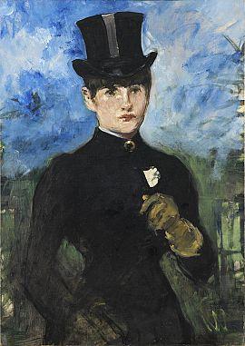 'Amazona de frente'.  Édouard Manet. Museo Thyssen-Bornemisza