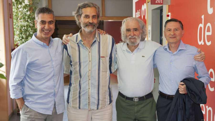 Arturo Martín recibe a José Pazó, Ramiro Calle y Antonio García