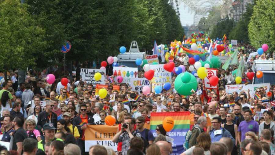 Calles de Madrid durante el Orgullo LGTB