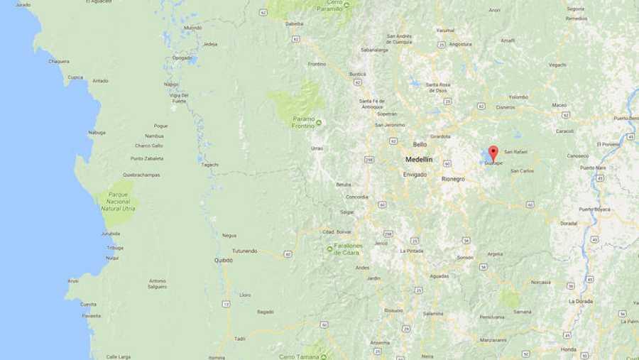 El naufragio ha tenido lugar en el embalse de Guatupe, cerca de Medellín, Colombia.