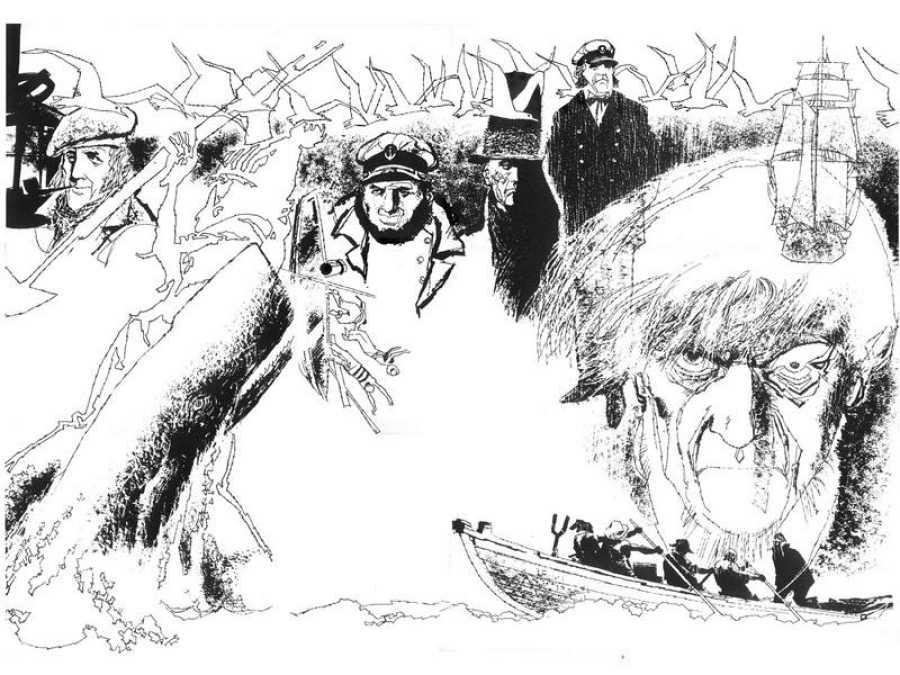 Ilustración para 'Moby Dick'
