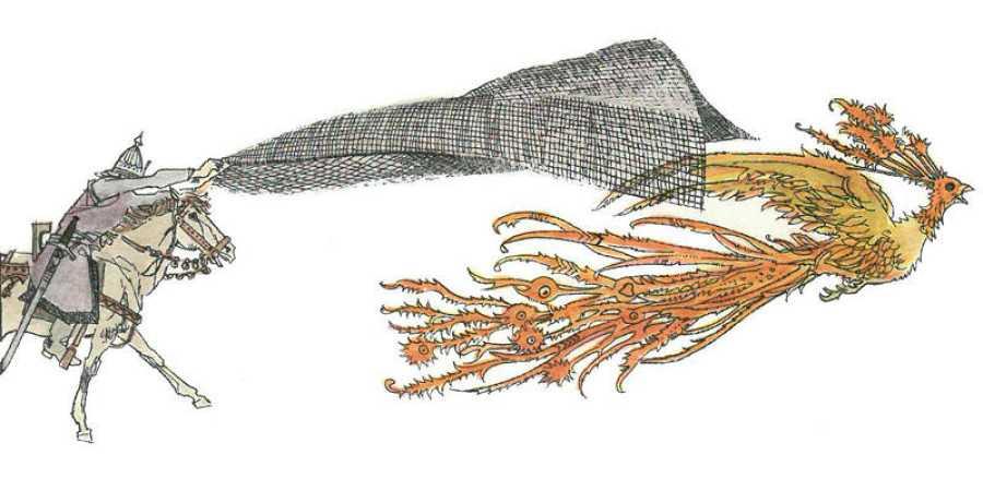 Ilustración para 'El pájaro de fuego'