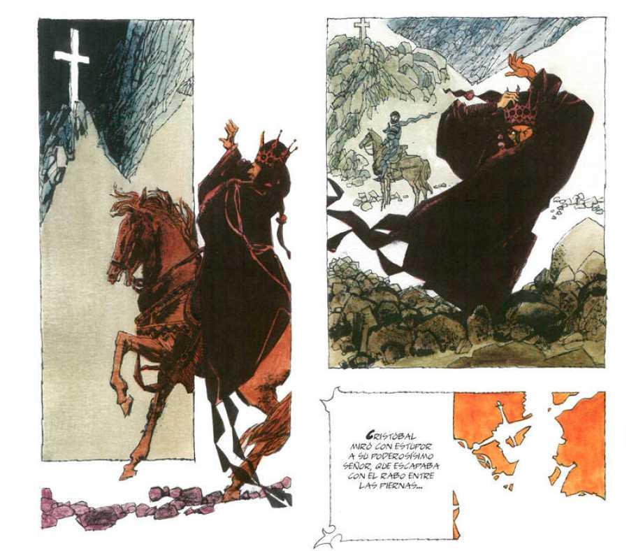 Viñetas de 'La leyenda de San Cristóbal'