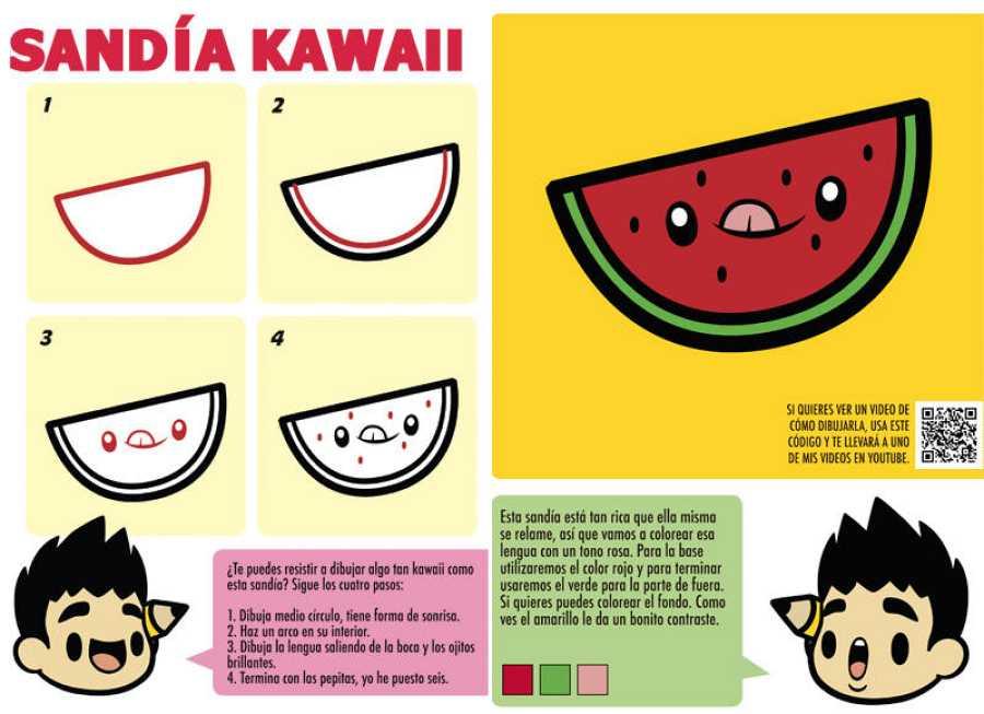 Páginas de 'Cómo dibujar kawaii'