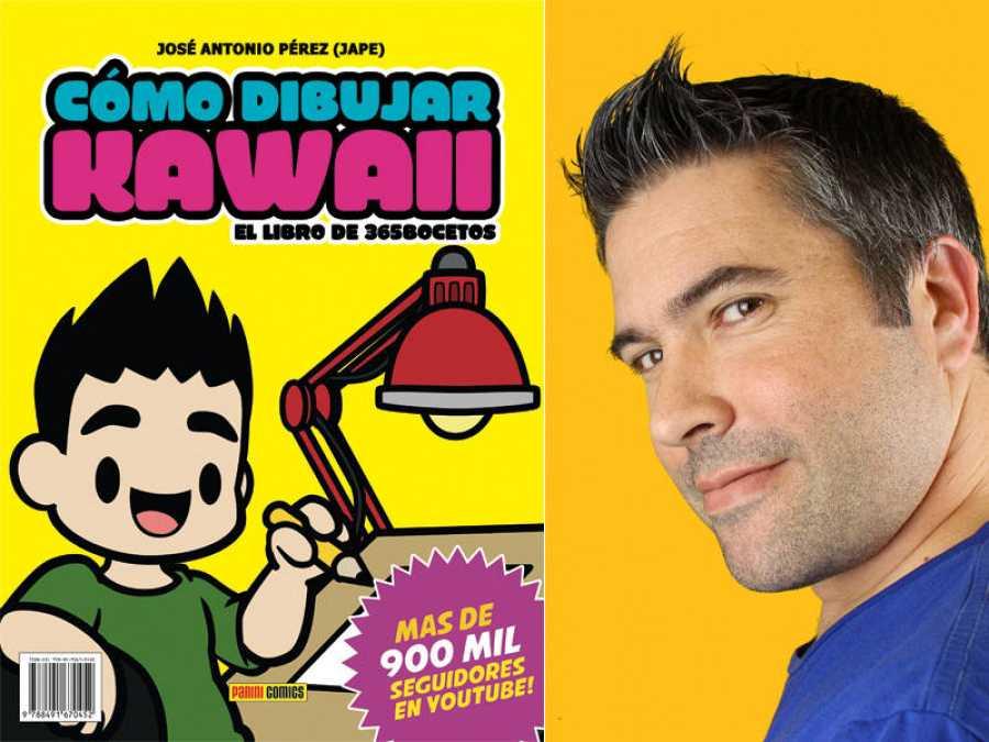Portada de 'Cómo dibujar kawaii' y su autor, José Antonio Pérez (Jape)
