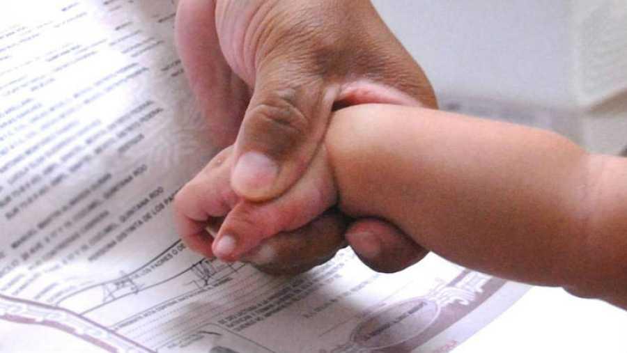 Registro de un recién nacido