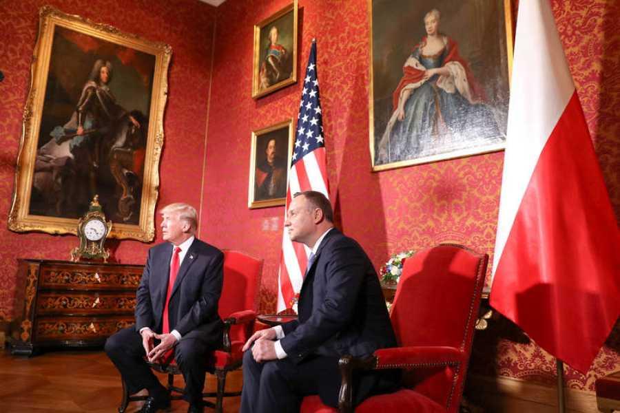 Trump se reúne con el presidente polaco, Andrzej Duda