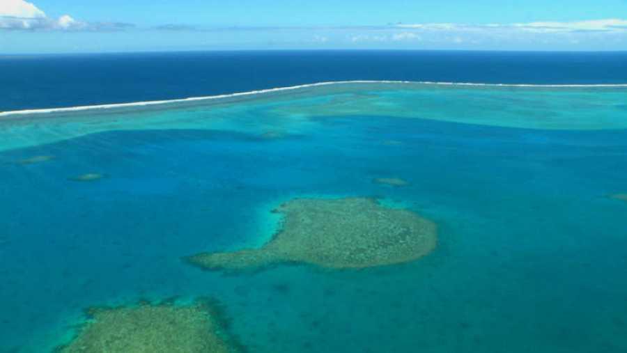 Vista aérea de las playas de Nueva Caledonia