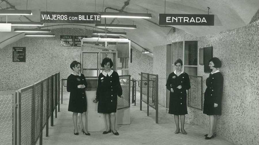 Trabajadoras de Metro de Madrid