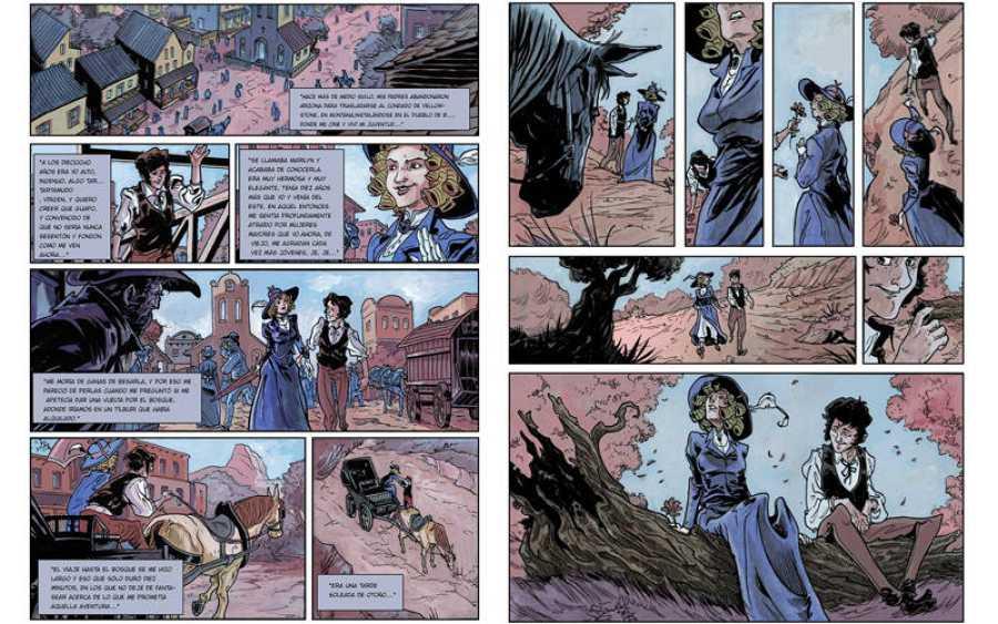 Páginas de 'Repóquer de reinas', de Abulí y Abel Carrasco