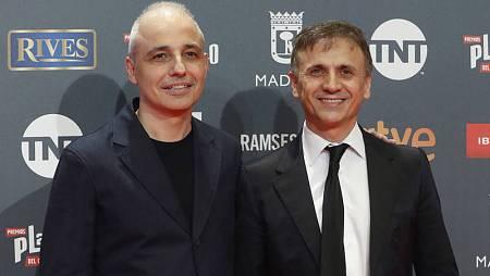 José Mota y Pablo Berger, en los IV Premios Platino del cine iberoamericano.
