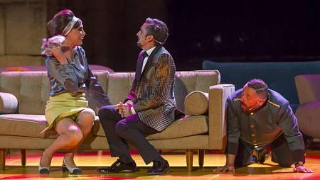 María Barranco, Canco Rodríguez y Pepón Nieto, en un momento del espectáculo.