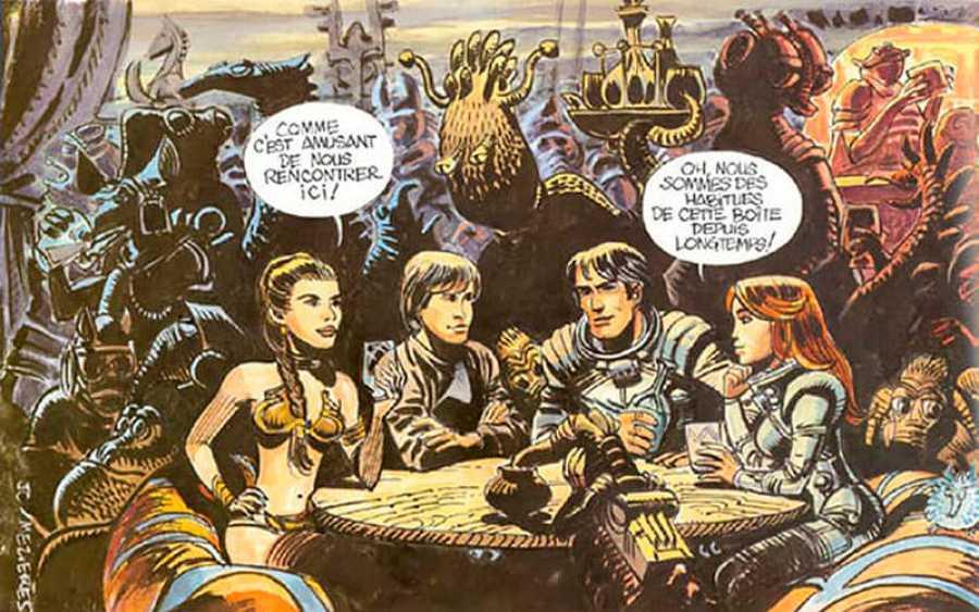 Luke y Leia coinciden con Valerian y Laureline en la cantina