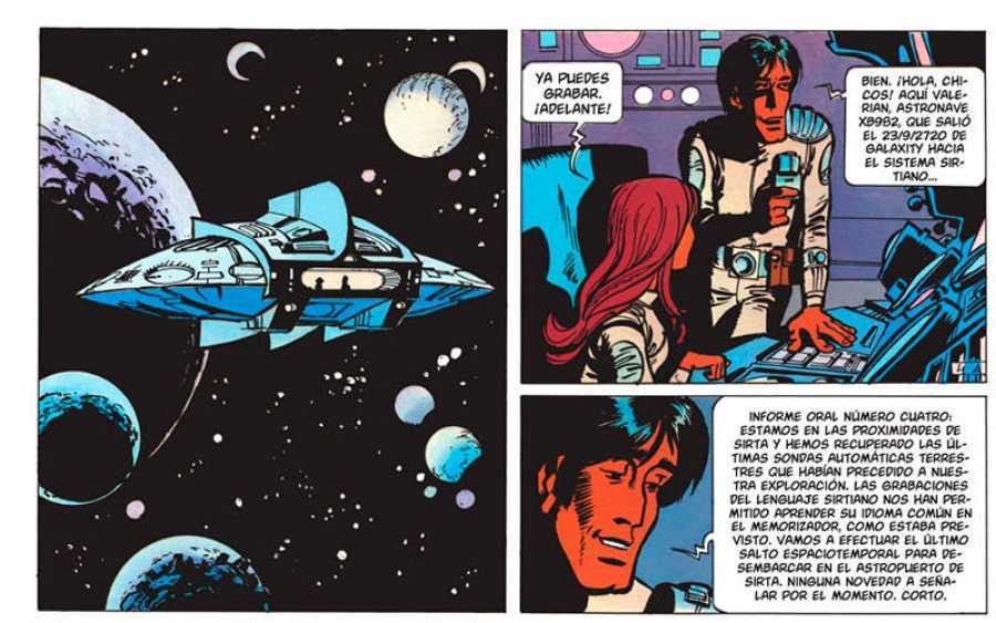 Viñetas de 'Valerian y la ciudad de los mil planetas'