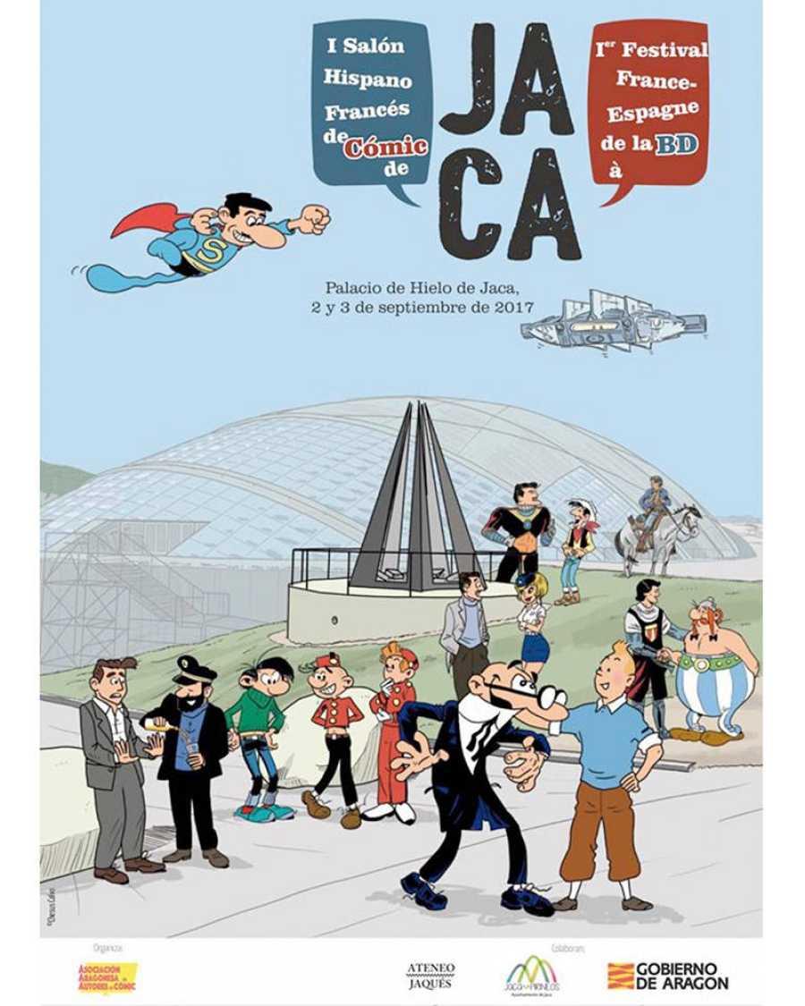 Cartel de Chesús Calvo para el I Salón de Cómic Hispano Francés de Jaca
