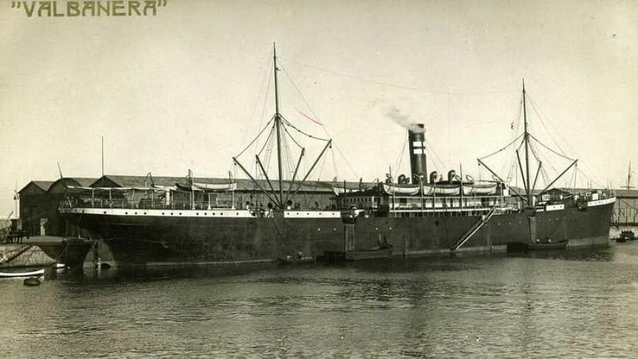 Fotografía del barco Valbanera de la colección de F.G. Echegoyen