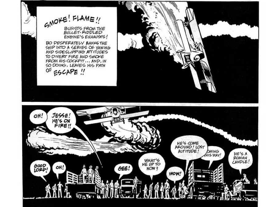 Viñetas de 'Bravo for adventure', de Alex Toth